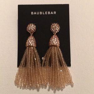 Baublebar tassel gold earrings